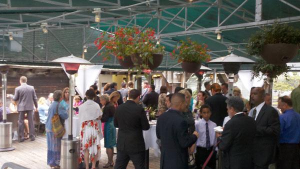 Harbor-House-San-Diego-Bay-Wedding-Reception-outside-guest