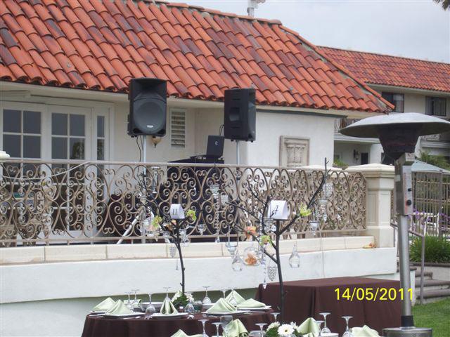 Marina-Suites-Wedding-reception-DJ-Tony-Slater-set-up