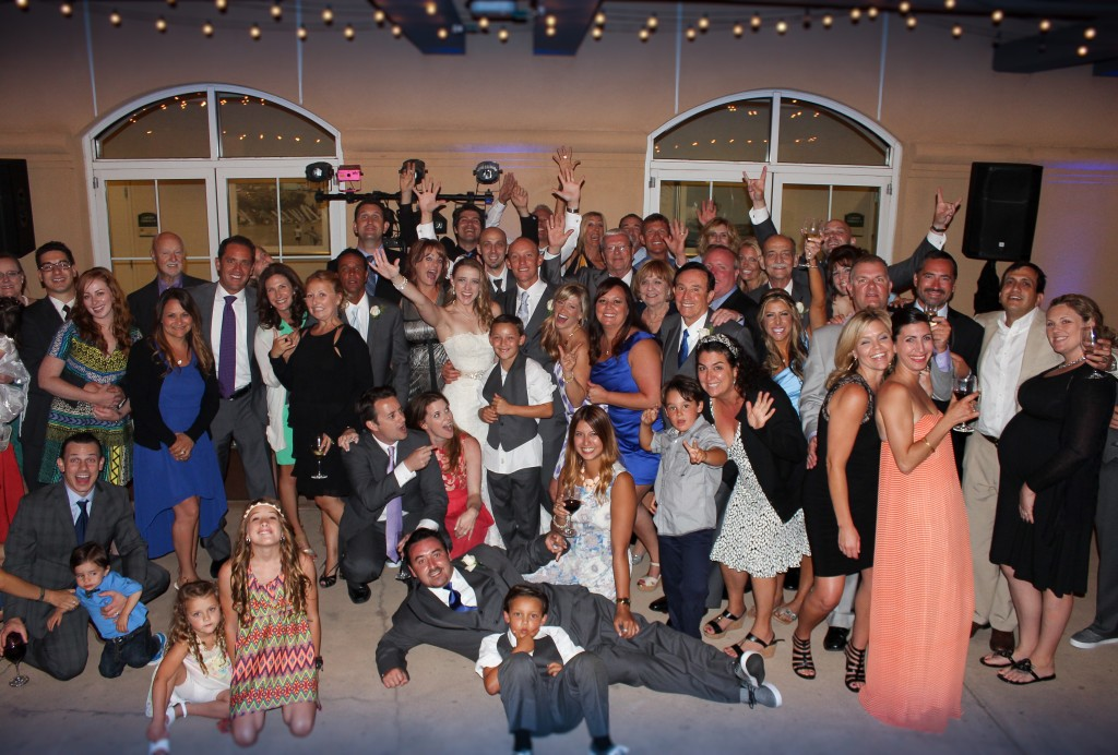 MY DJs Wedding DJ Joshua Duncan with Wedding Reception Guests