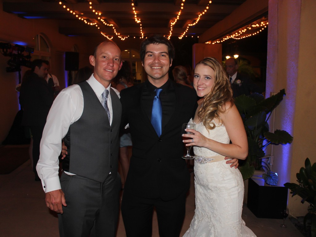 MY DJs Wedding DJ Joshua Duncan with Bride and Groom at Hilton Garden Inn Carlsbad