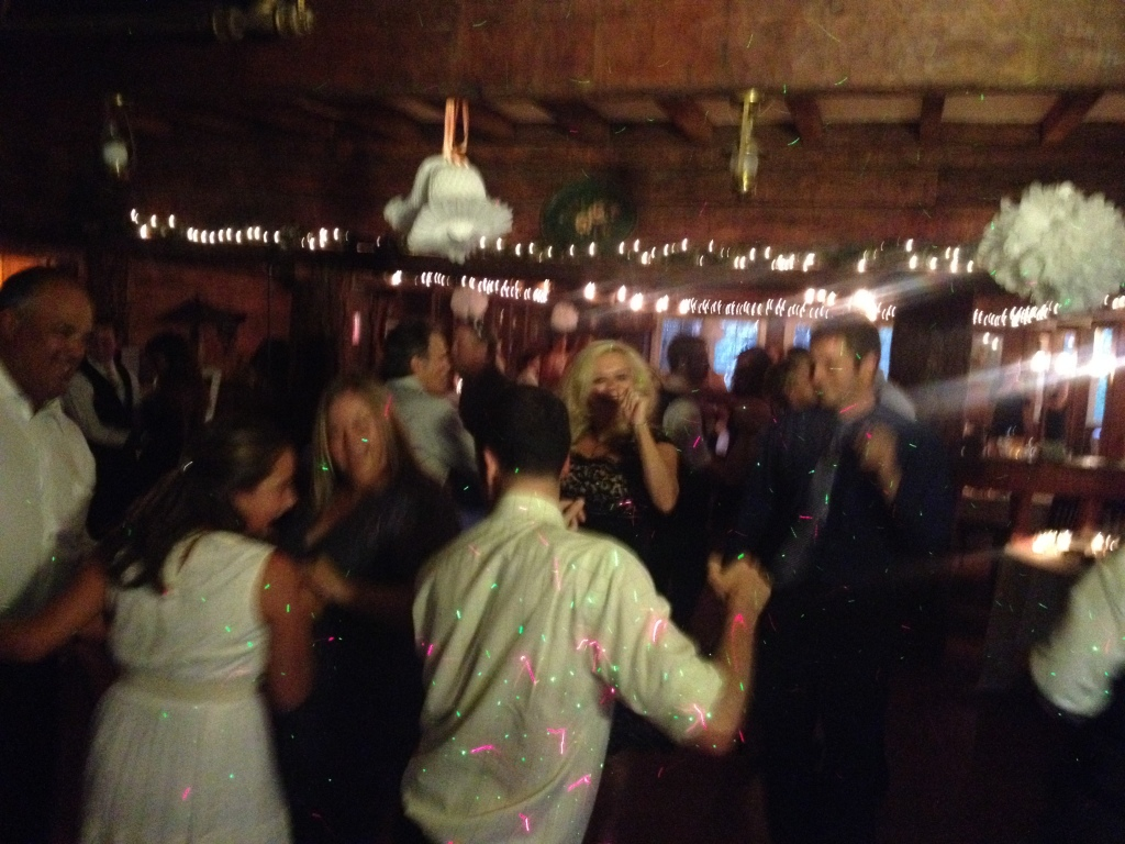 MY DJs Dance Floor at Pine Hills Lodge Wedding