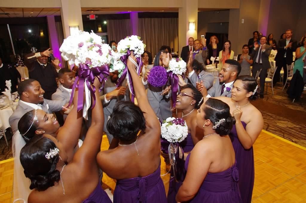 MY DJs Purple Uplighting at Barry Wedding