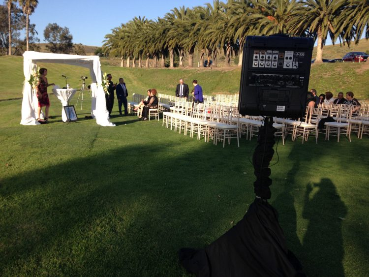Remote Ceremony audio setup